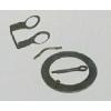 锁片、开口肖、挂簧肖、滚轮保护架